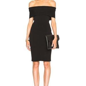 Rosetta Getty Off-the-shoulder Stretch Mini Dress
